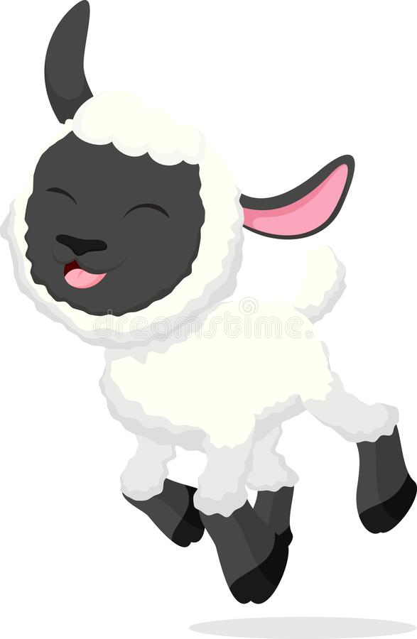 Cute sheep cartoon collection set stock images
