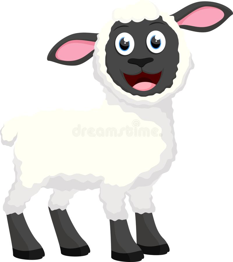Cute sheep cartoon collection set royalty free stock photography