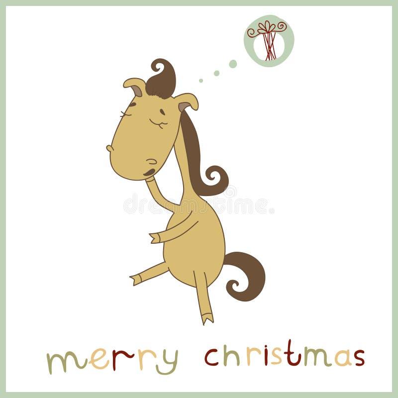 Illustration of a cute sleepy cartoon horse. Chris stock images