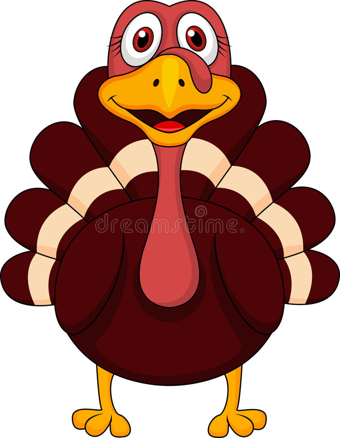 Cute turkey cartoon. Illustration of cute turkey cartoon