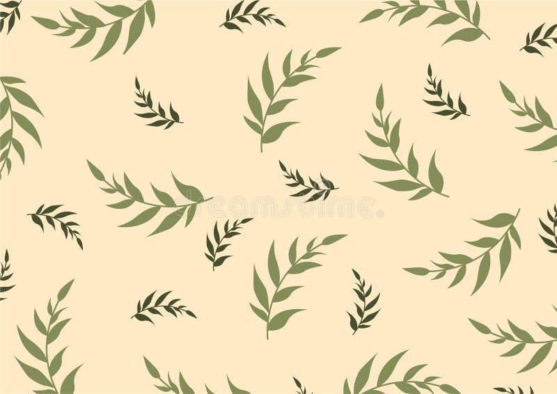 Illustration décorative botanique de vecteur illustration libre de droits