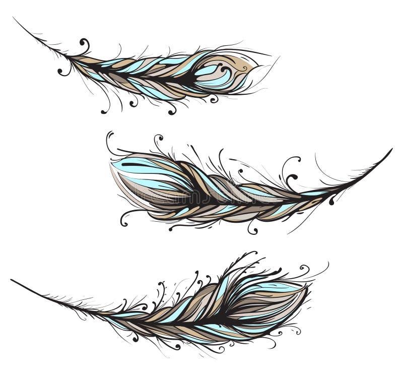 Illustration décorative compliquée de clavettes illustration de vecteur