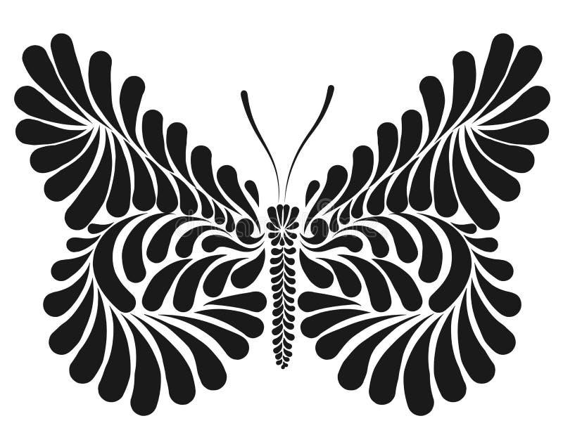 Illustration décorative de vecteur de papillon illustration libre de droits