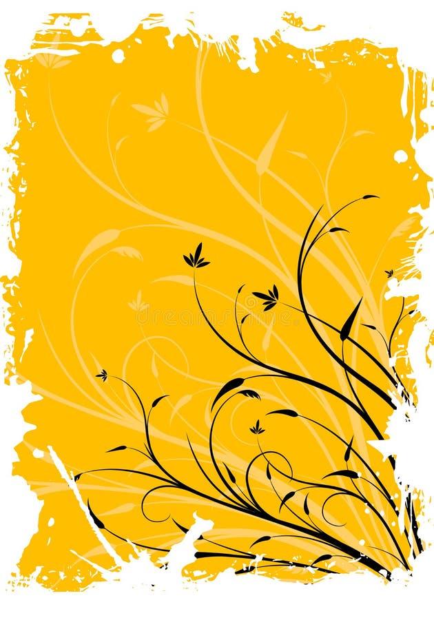 Illustration décorative florale grunge abstraite de vecteur de fond illustration stock