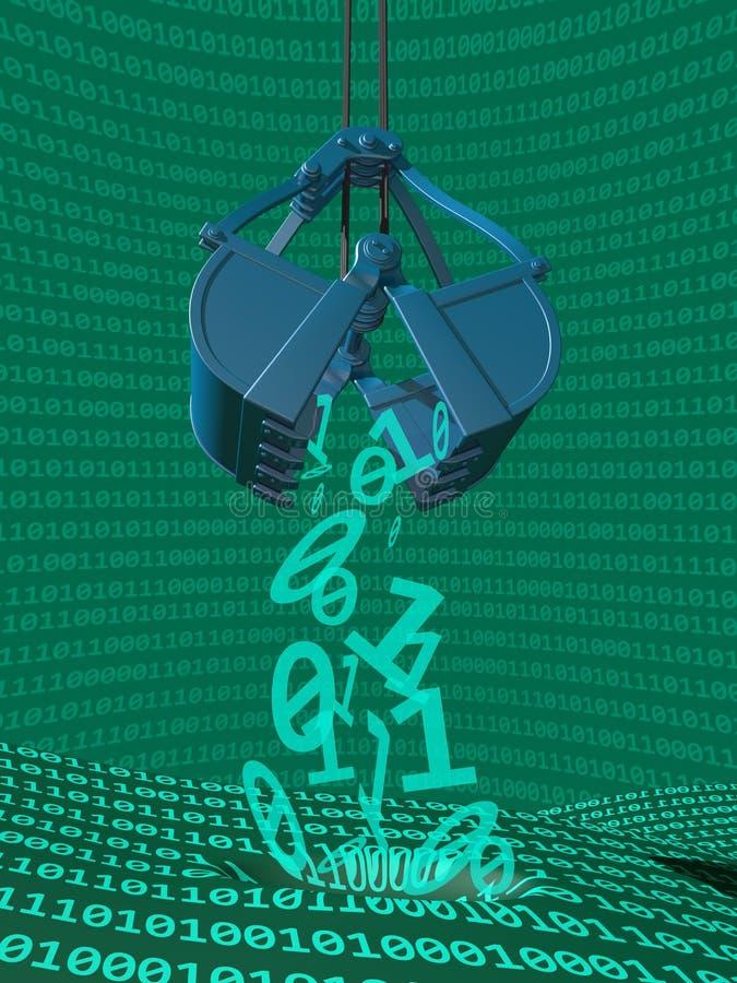 Processus d'exploitation de données illustration libre de droits