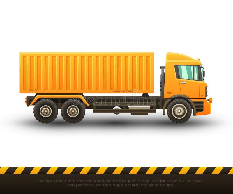 Illustration détaillée de vecteur de chariot élévateur illustration de vecteur