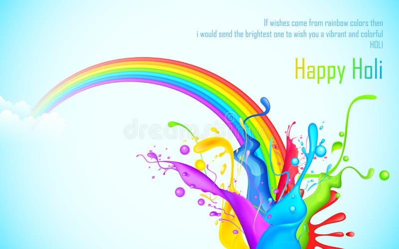 Éclaboussure colorée en papier peint de Holi illustration stock