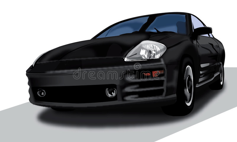 Illustration d'éclipse de Mitsubishi images stock