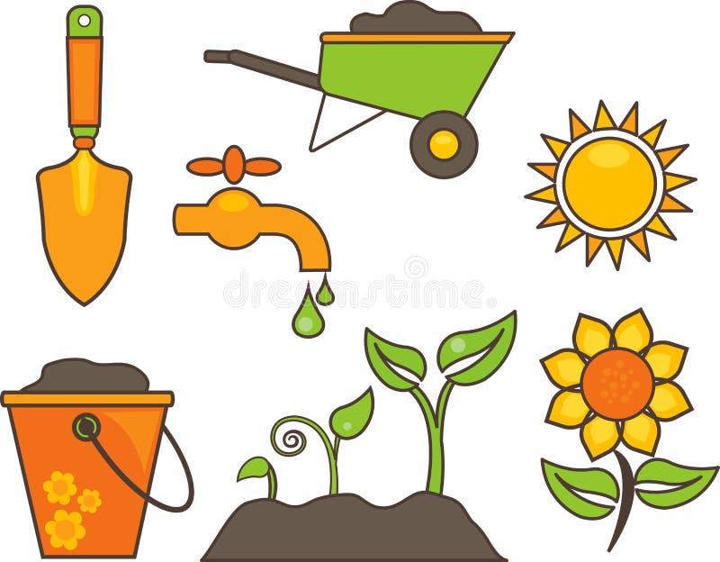 Illustration d'équipement de jardinage illustration de vecteur