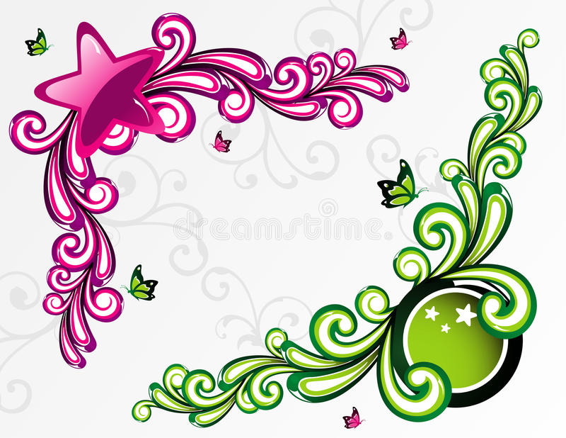 Illustration d'étoile de fond illustration stock