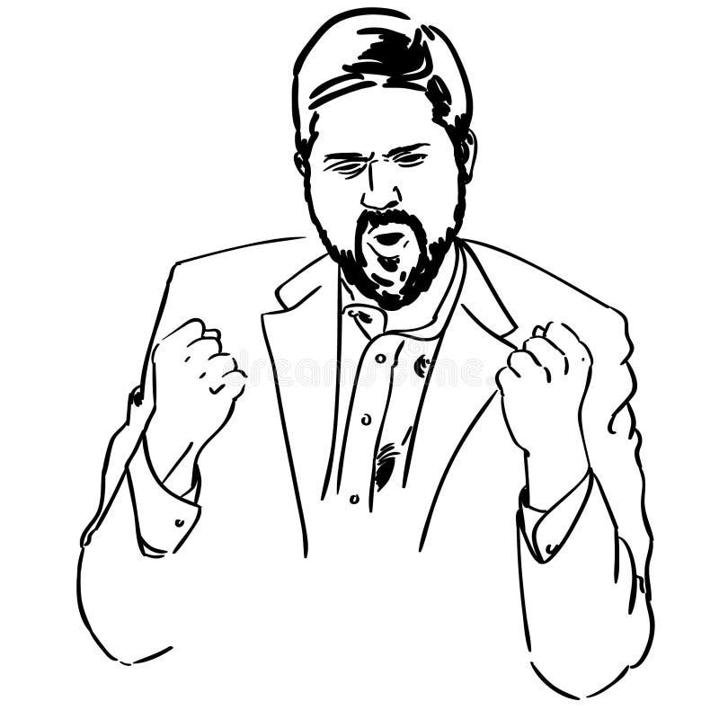 Illustration d'acclamation de pompe de poing par des crafteroks illustration libre de droits