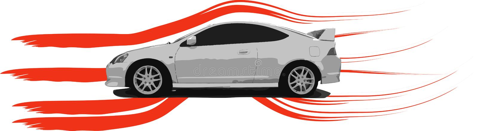 Illustration d'Acura RSX photo stock
