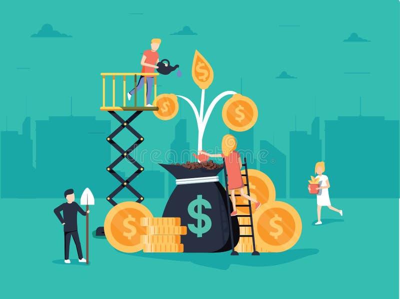 Illustration d'affaires de vecteur qu'un groupe de personnes caractères pensent au-dessus d'une idée préparez un projet d'affaire illustration libre de droits