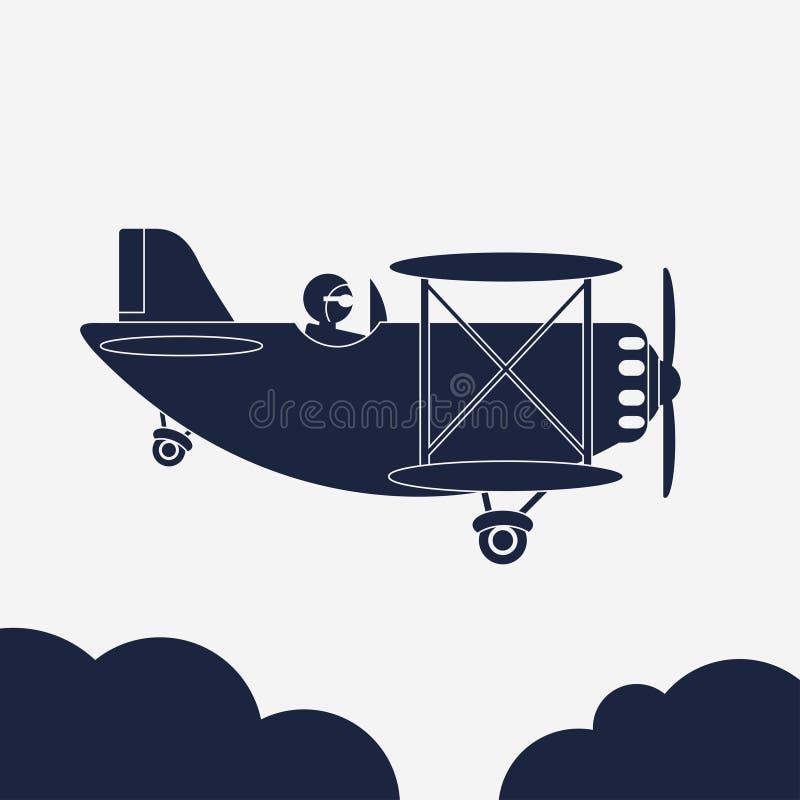 Illustration d'Airlane, icône d'avion, avion dans le ciel Vecteur illustration stock
