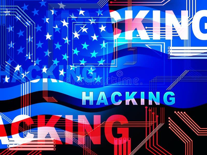 Illustration d'alerte sécurité de Cyber entaillée par site Web 2d illustration libre de droits