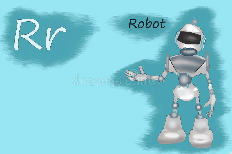 Illustration d'alphabet de la bande dessinée R illustration libre de droits