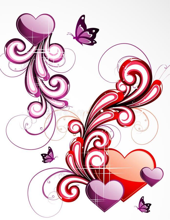 Illustration d'amour de fond illustration stock