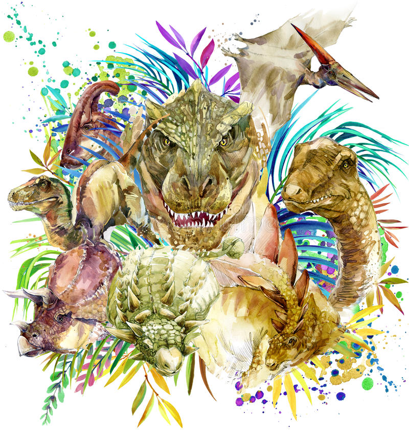 Illustration d'animal de dinosaure illustration stock