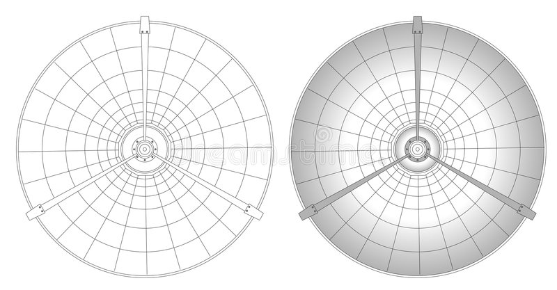 Illustration d'antenne parabolique illustration stock