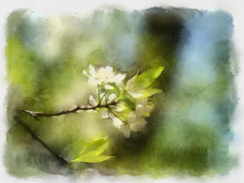 Illustration d'aquarelle illustration libre de droits