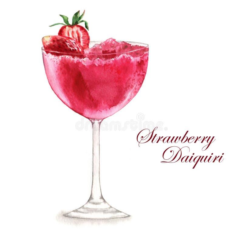Illustration d'aquarelle de cocktail photographie stock libre de droits