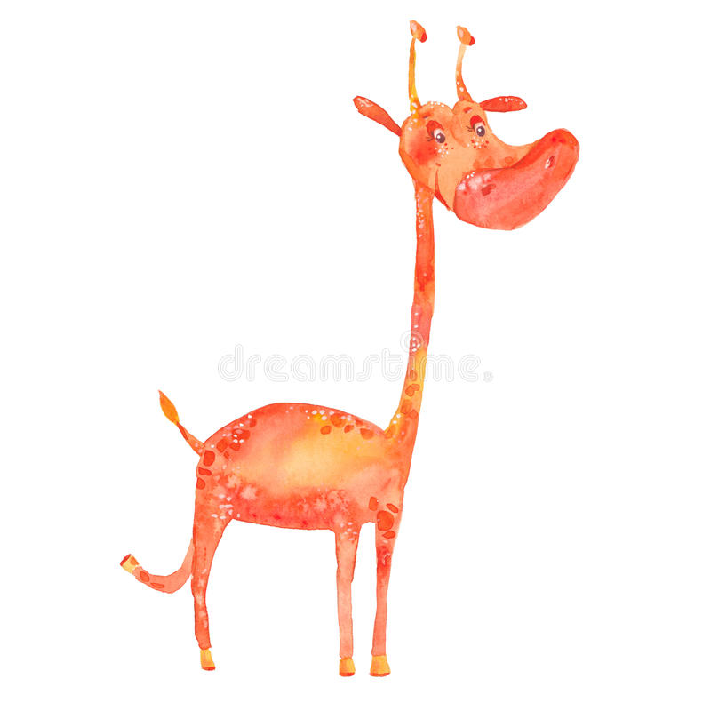 Illustration d'aquarelle de girafe illustration stock