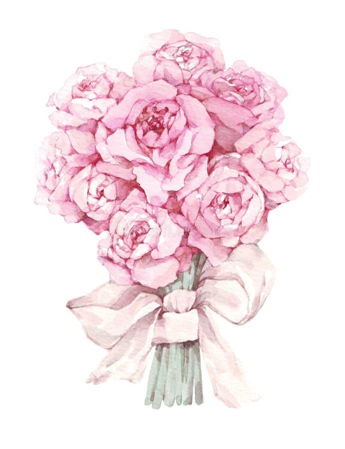 Illustration d'aquarelle d'un bouquet de lavande, Provence, herbes, carte de vintage illustration de vecteur