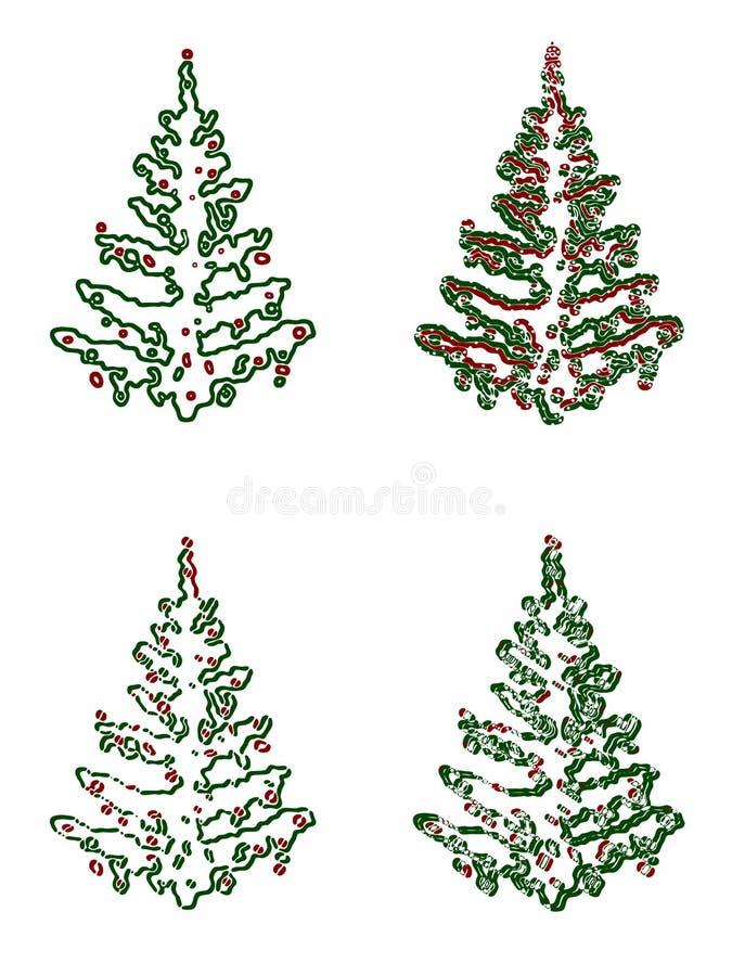 Illustration d'arbre de Noël image libre de droits