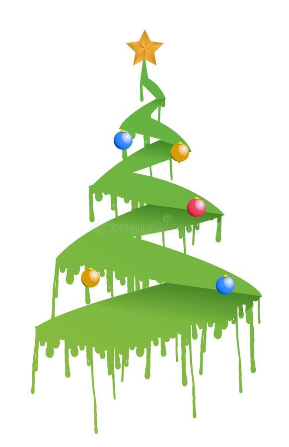 Illustration d'arbre de Noël d'encre illustration stock