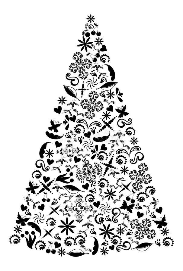 Illustration d'arbre de vacances. illustration de vecteur