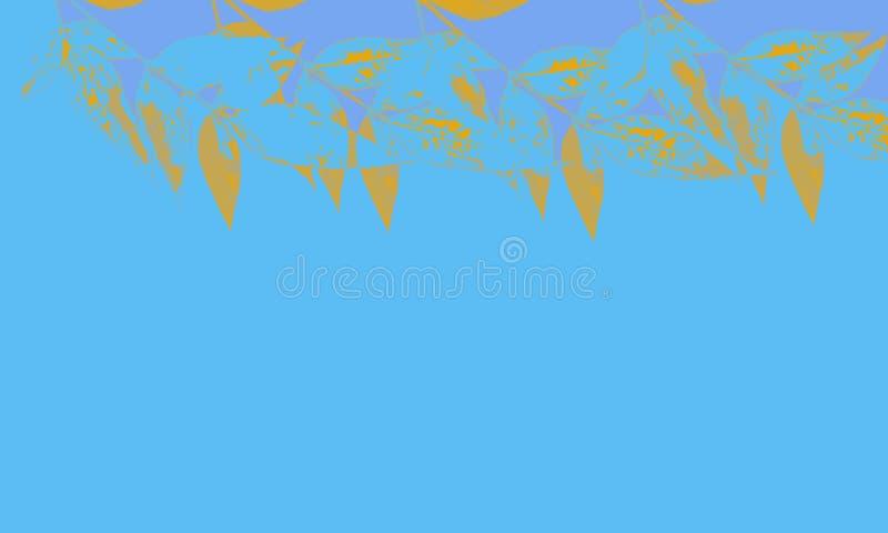 Illustration d'arbre et de feuille sur le fond blanc illustration de vecteur