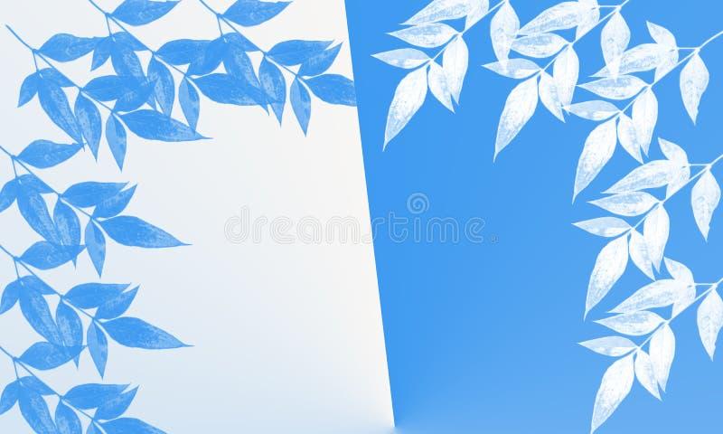 Illustration d'arbre et de feuille sur le fond blanc illustration libre de droits