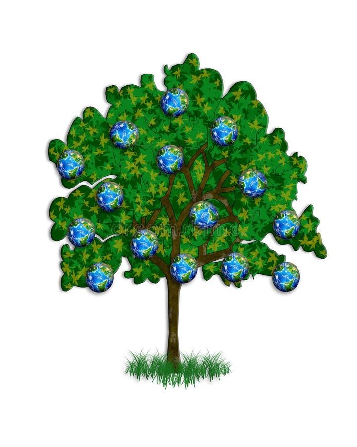Illustration d'arbre pour le jour de terre illustration libre de droits