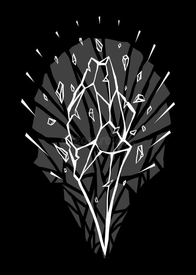 Illustration d'art de conception de Diamond Burst illustration libre de droits