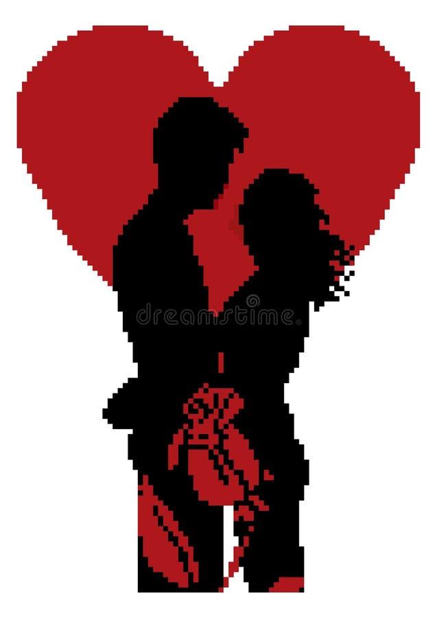 Pixel Art Couple Illustration De Vecteur Illustration Du