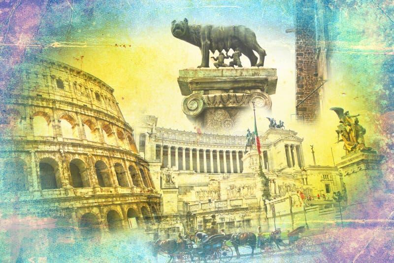 Illustration d'art de Rome Italie illustration stock