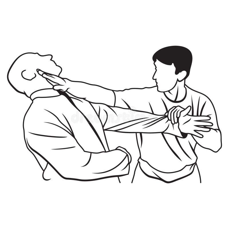 Illustration d'arts martiaux illustration stock