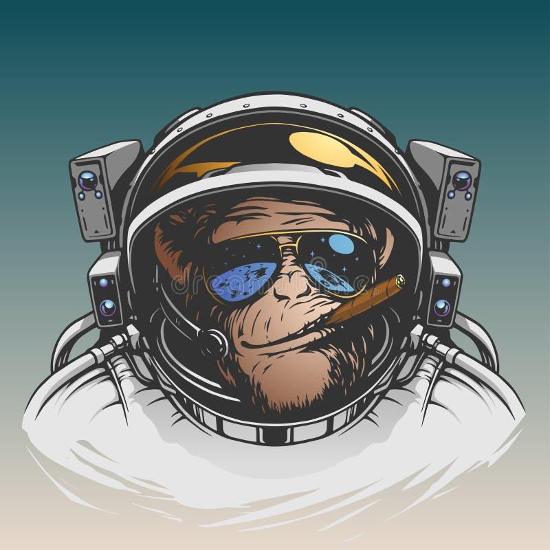 Illustration d'astronaute de singe illustration stock