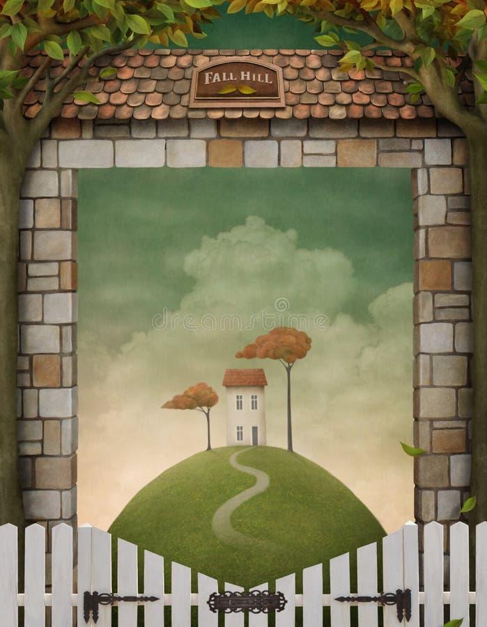Illustration d'automne, affiche, infographies. illustration stock