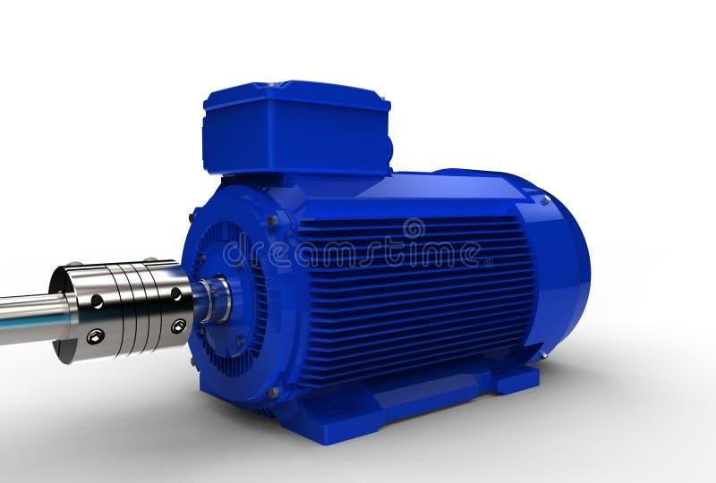 illustration 3d av den elektriska motorn stock illustrationer