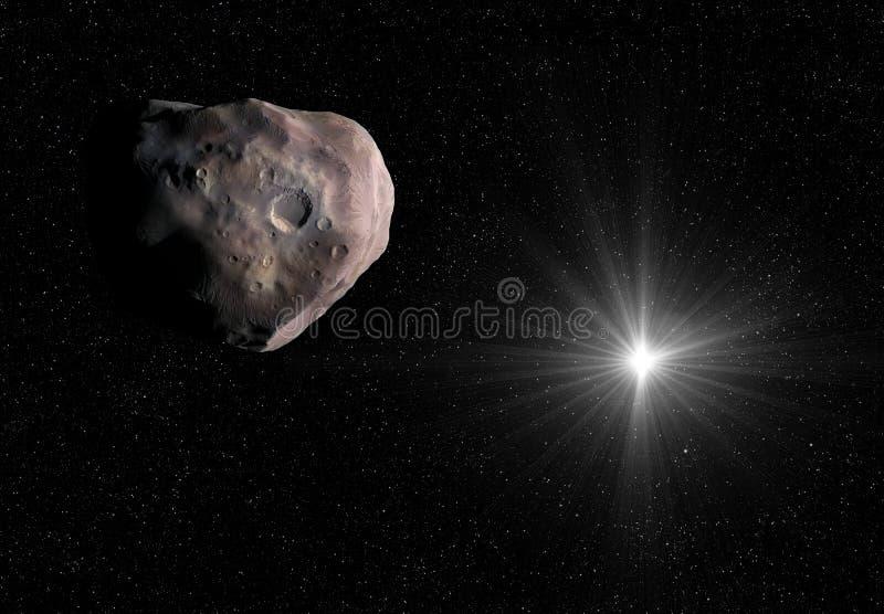 illustration 3D av den isolerade mindre planeten i solsystemet arkivfoton