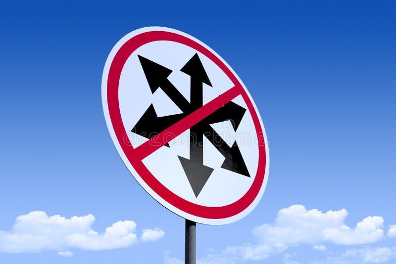 illustration 3D av en väg sign_multipleArrows_angle3 stock illustrationer