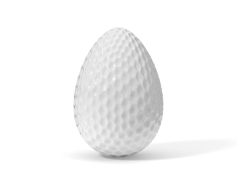 illustration 3d av formad golfboll för easter ägg vektor illustrationer