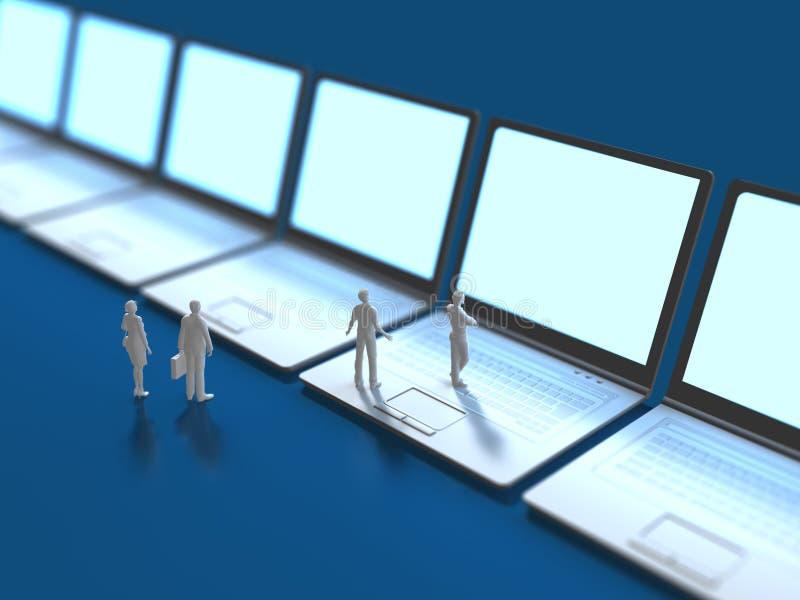 illustration 3D av informationsterminalen vektor illustrationer