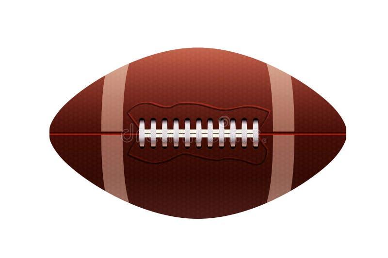 illustration 3d av rugbybollen på vit bakgrund royaltyfri illustrationer