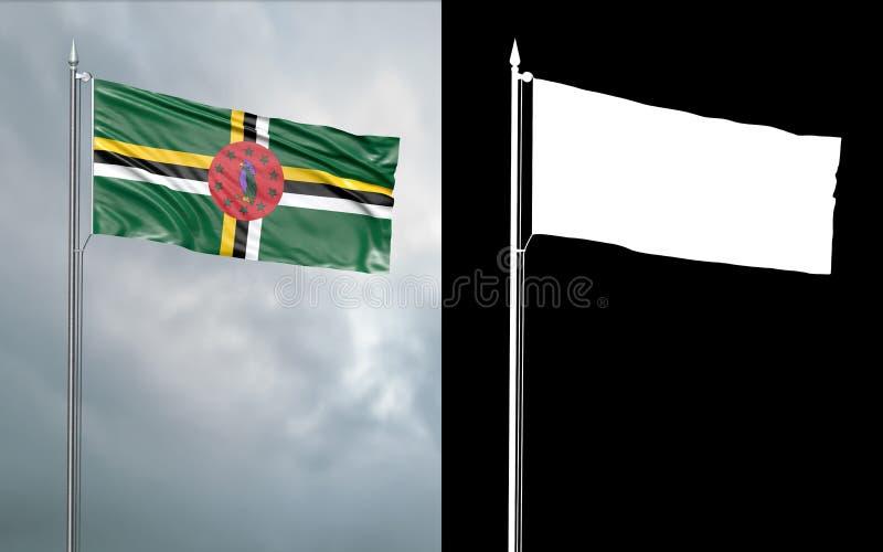 illustration 3d av tillståndsflaggan av brittiska samväldet av Dominic royaltyfri illustrationer