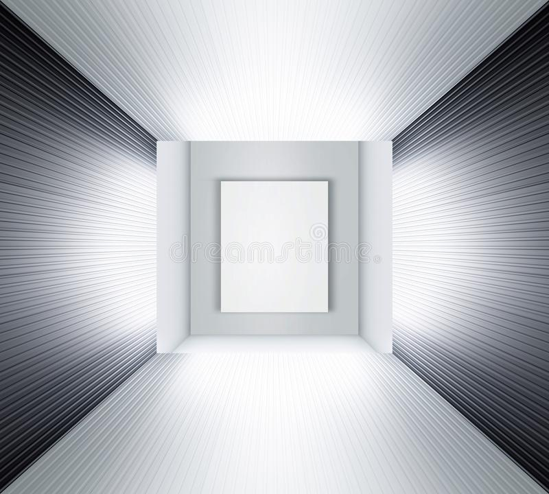 illustration 3D av utställningutrymme royaltyfria foton