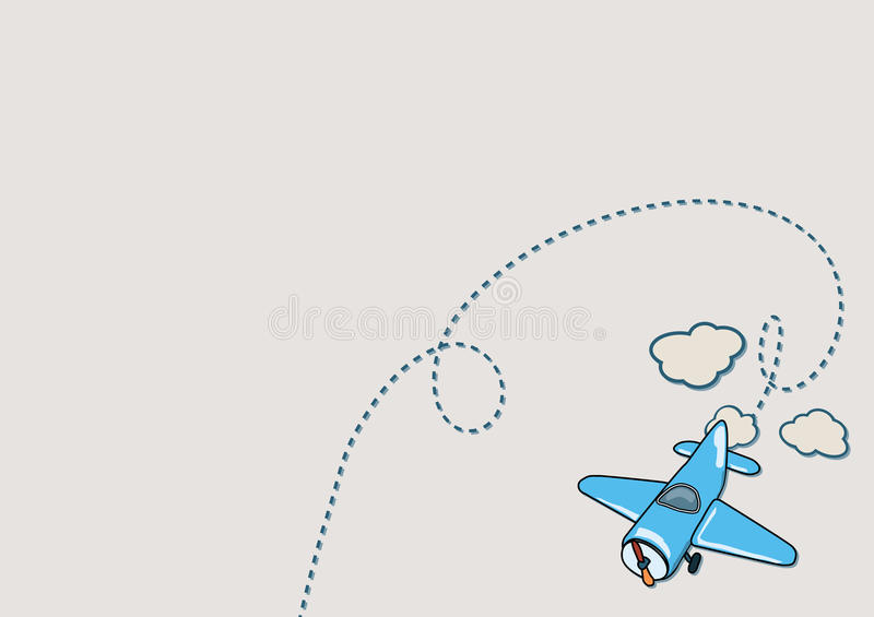 Illustration d'avion illustration stock
