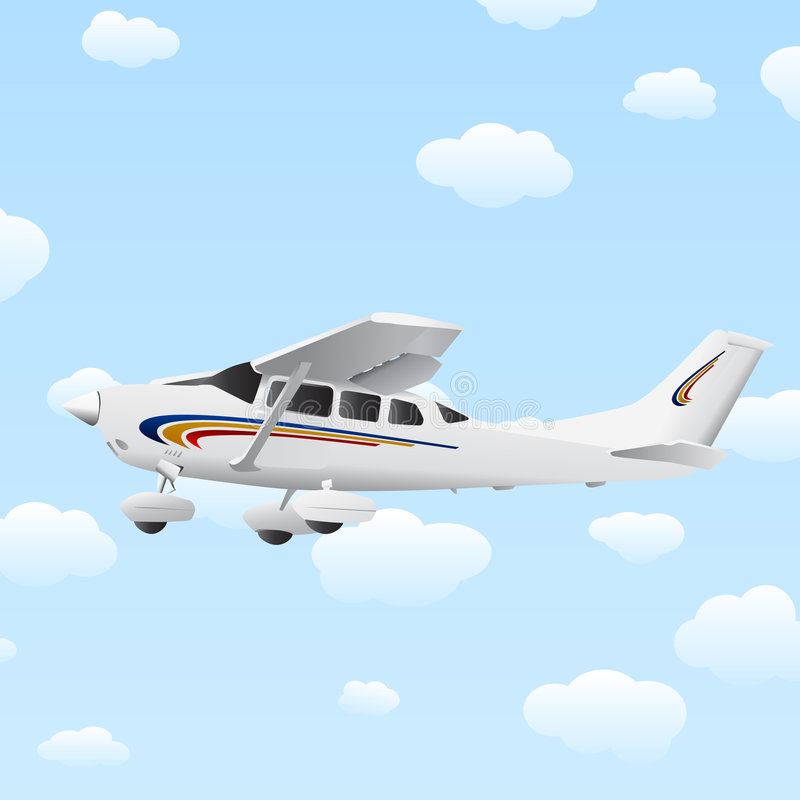 Illustration d'avion illustration libre de droits