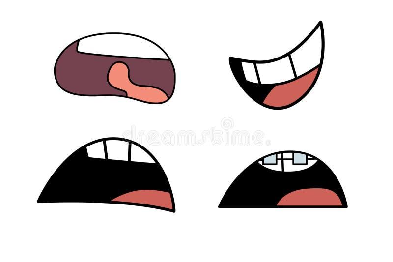 Illustration d'bouches réglées photo libre de droits